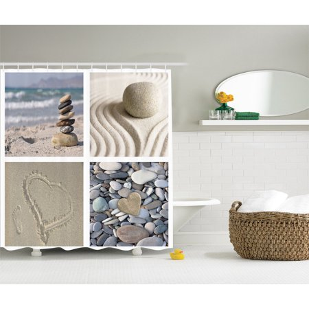 Nautical Bathroom Decor Landscape Seascape Artprint Ocean Beach Shower Curtain