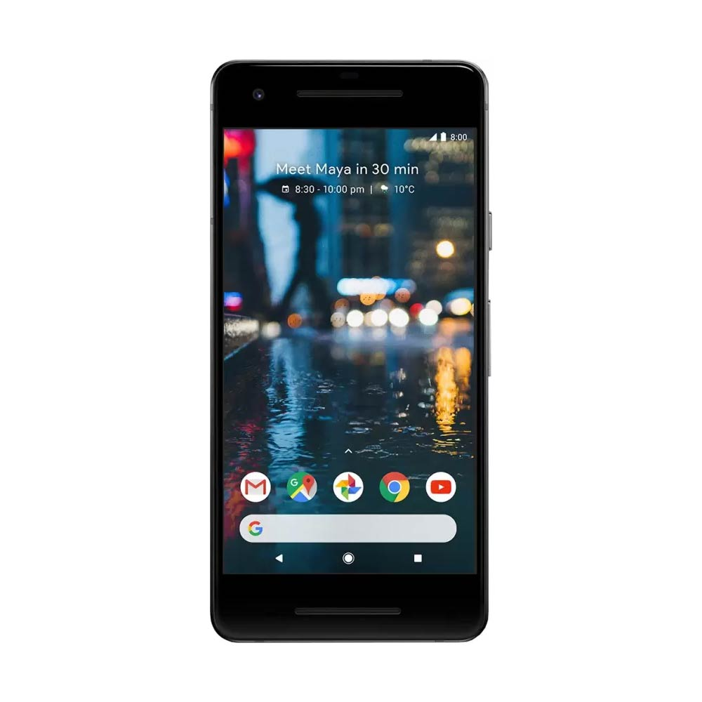 "New Google Pixel 2 64GB G011A GSM + CDMA Factory Unlocked 5"" AMOLED Display 4GB RAM 12.2MP Smartphone - Just Black - USA Version"