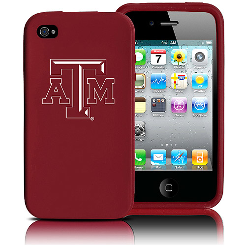 Tribeca Silicone Varsity Jacket Case for iPhone 4, Texas A&M, Cranberry