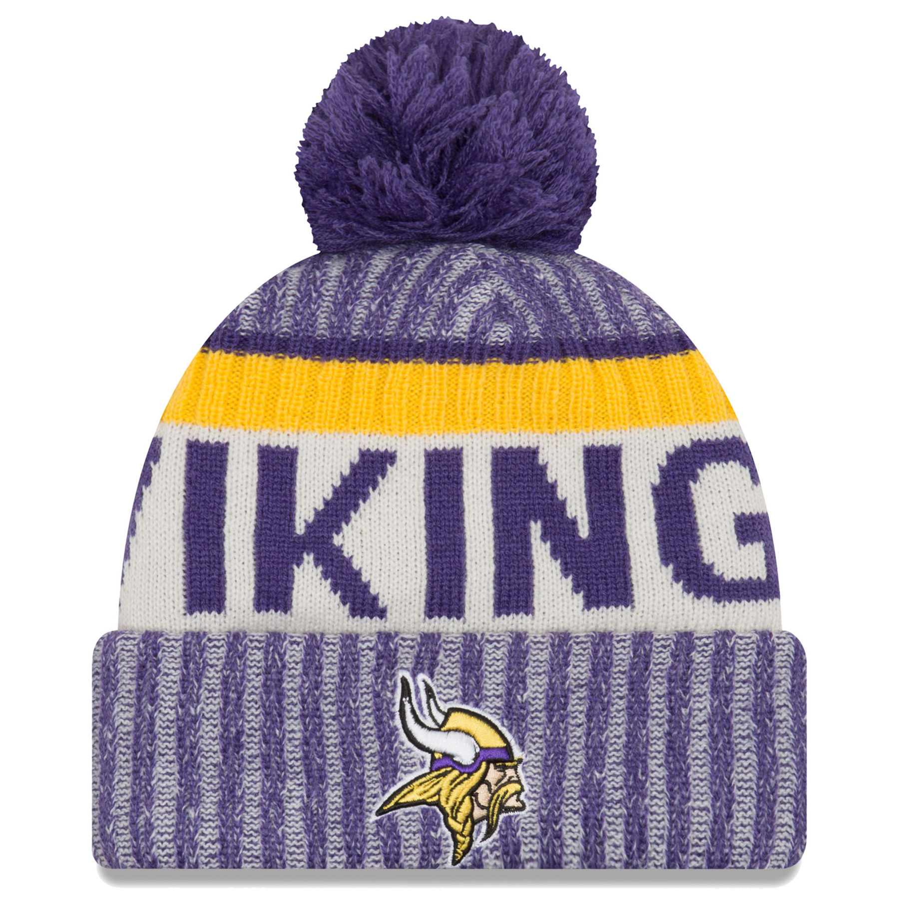 Minnesota Vikings New Era 2017 NFL Official Sideline Sport Knit Hat