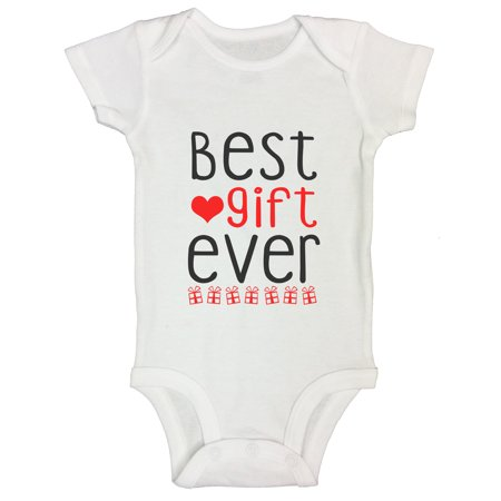 """Kids Present Holiday Onesie """"Best Gift Ever"""" Christmas Vacation Funny Threadz Kids Toddler T2 T-shirt, (Best Presents For Boys)"""