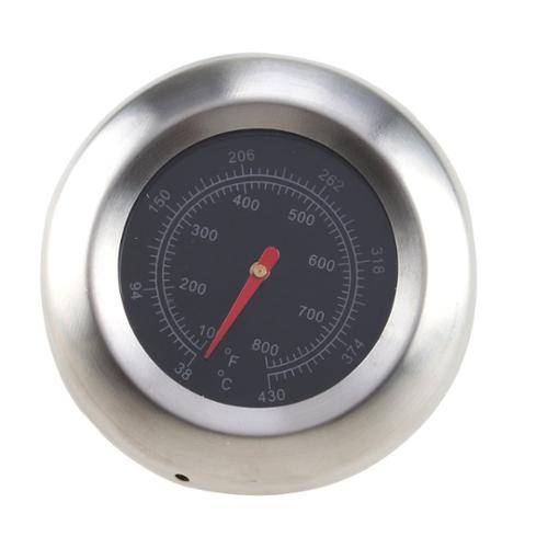 """AGPtek Stainless Steel 3"""" BBQ Grill Cooking Thermometer Temperature Gauge (Temperature Range: 38-430℃/100-800℉)"""