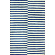 nuLOOM Hand-tufted Modern Stripes Blue New Zealand Wool 0.5-inch-pile Rug (7'6'' x 9'6'')