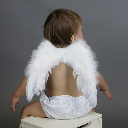 Angel Baby Halloween Surprise (Zucker Small Angel Feather Costume Wing - Baby Angel Wings for Kids Halloween)