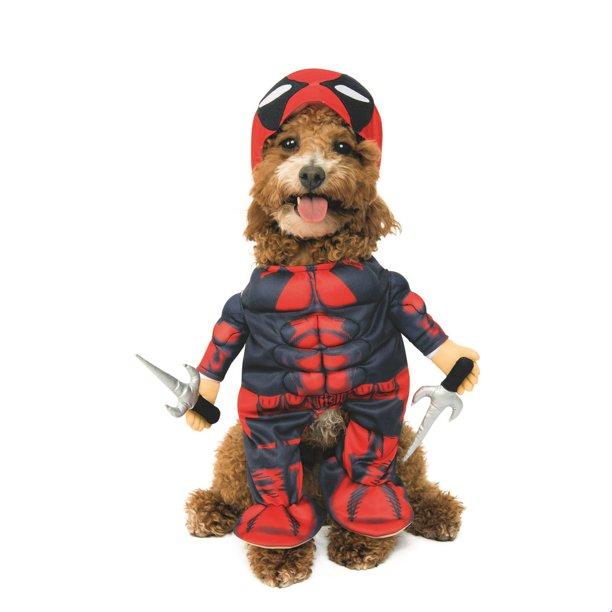 Deadpool Pet Halloween Costume Walmart Com Walmart Com