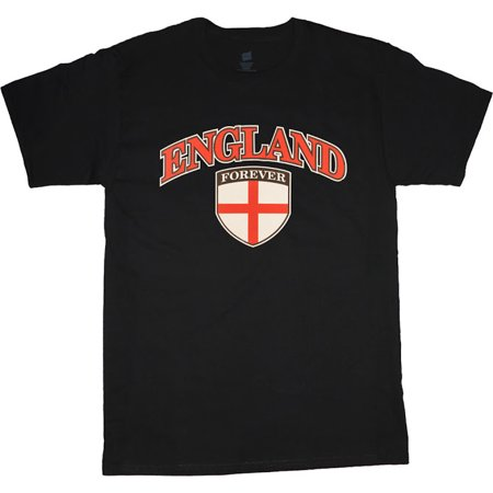Mens Graphic Tees England Crest T-shirt Decked-Out-Duds Mens Clothing