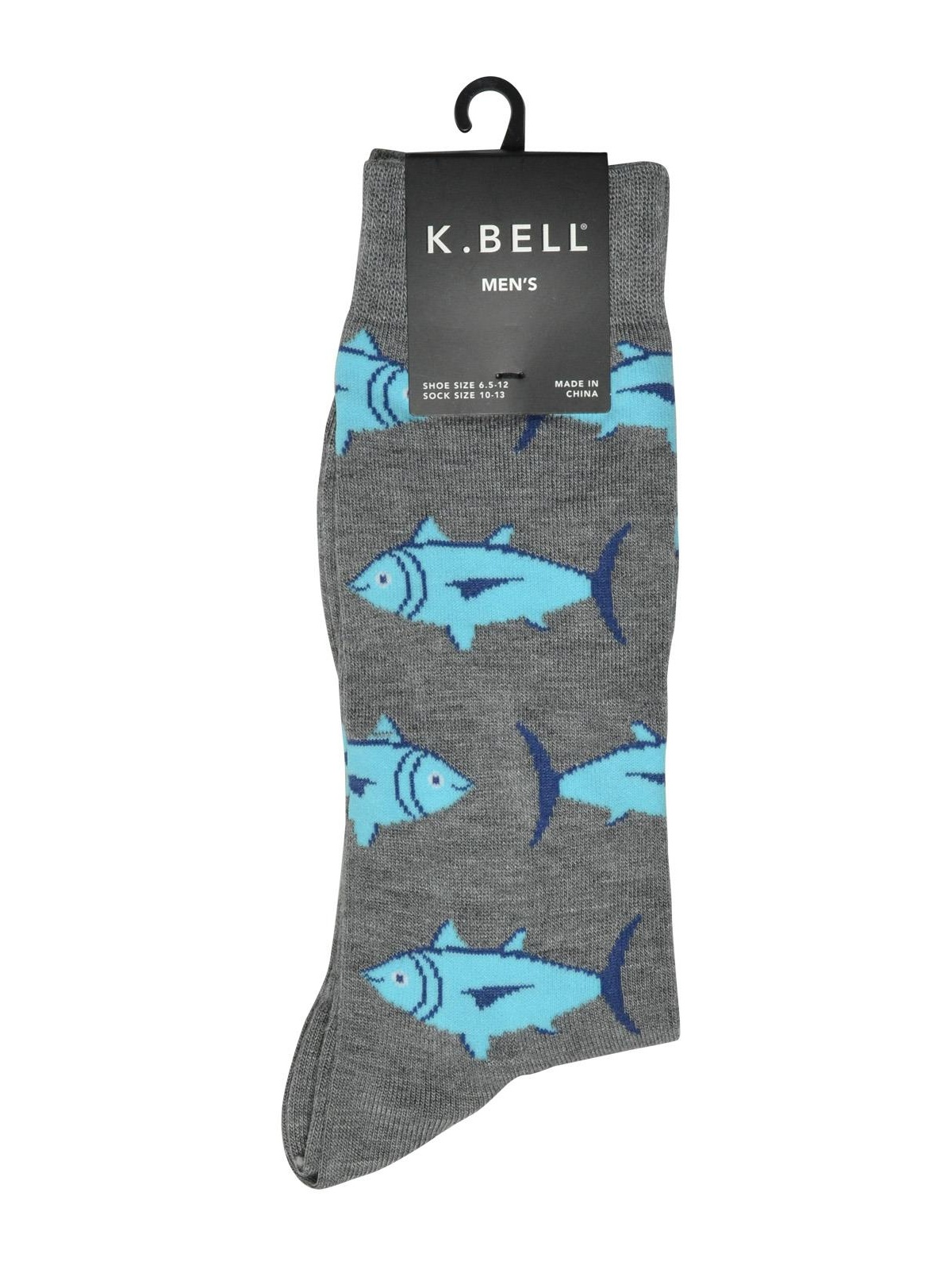 K.Bell Brown Black Leopard Print Sneaker Design Black Gray Crew Socks New