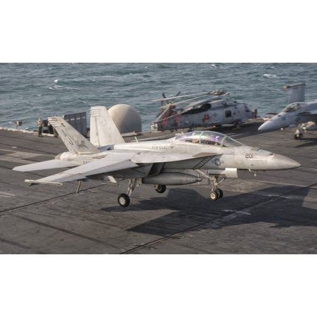 An Fa 18F Super Hornet Landing Aboard Uss George Hw Bush Canvas Art   Giovanni Collastocktrek Images  18 X 11