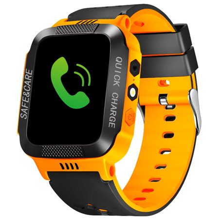 Gps Watch For Kids, Smart Watch Phone Gps Tracker With Anti LostSOS Call Location Finder GPS LBS Real Tracking On APP Support Android (Best Spending Tracker App 2019)