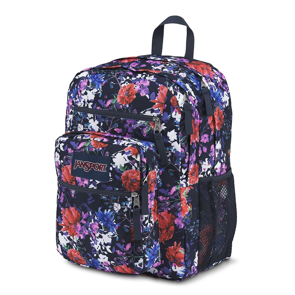 Jansport Big Student Backpack Bag School NAVY FLORAL BLOOM ...