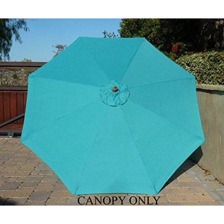 Formosa Covers 9ft Umbrella Replacement Canopy 8 Ribs In Turquoise