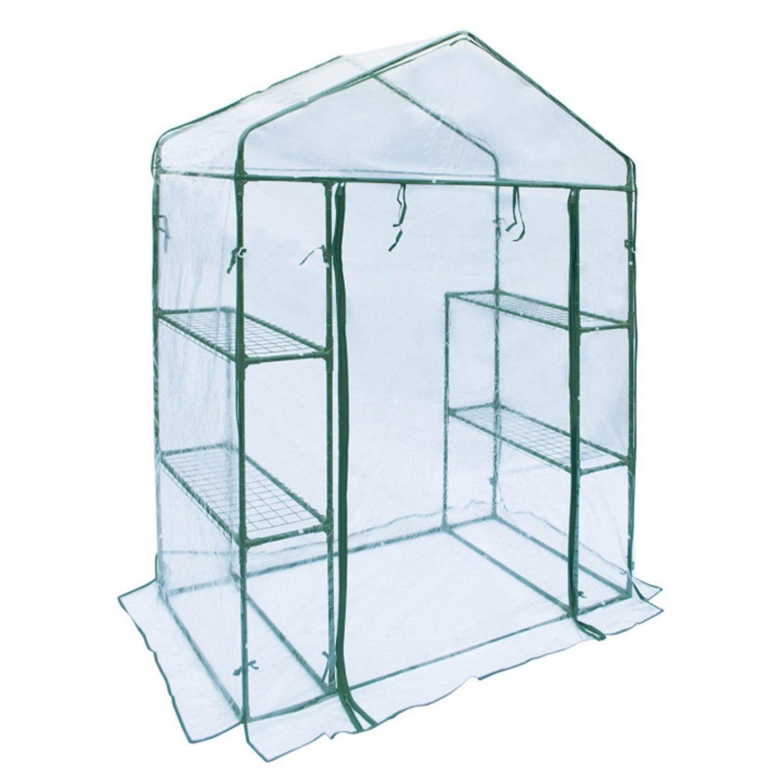 ALEKO Transparent Walk-In 4-Shelves Garden Plant Outdoor Greenhouse Shed by ALEKO