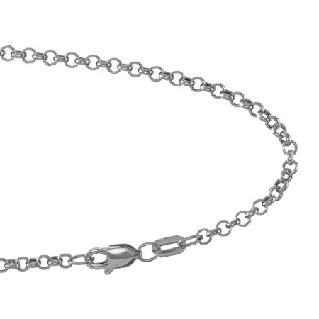 14k Yellow Or White Gold 2.3mm Rolo Chain Bracelet, Lobster Claw - 7