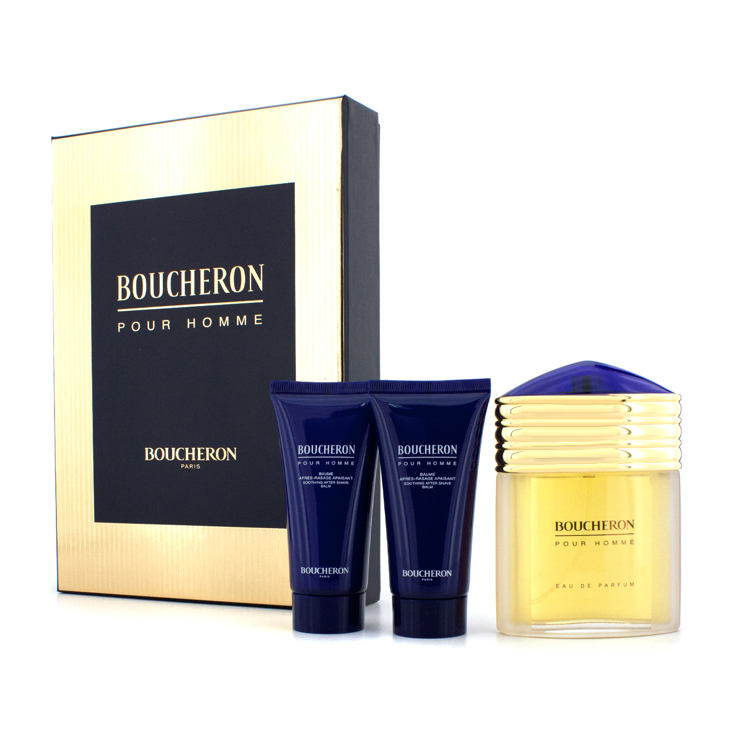 Boucheron - Boucheron Coffret: Eau De Parfum Spray 100ml/3.3oz + 2x Soothing After Shave Balm 50ml/1.6oz - 3pcs