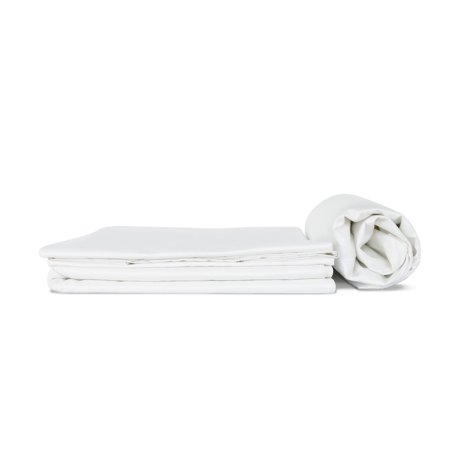Dreamer Luxe Long Staple Sateen Cotton Bed Sheet Set and Flat Sheet in Twin