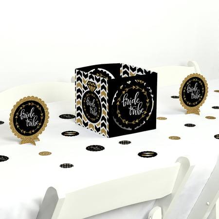 Bride Tribe - Bridal Shower & Bachelorette Party Centerpiece & Table Decoration Kit