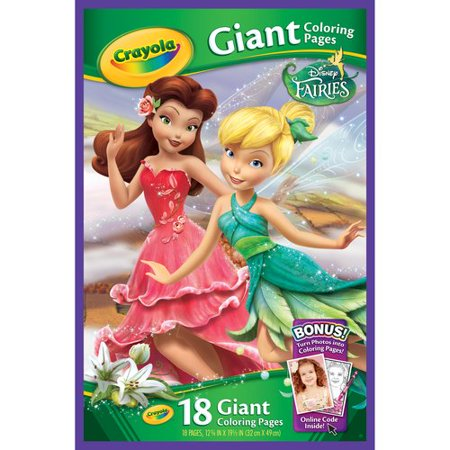 Crayola Giant Coloring Pages, Fairies, 18-Count - Walmart.com