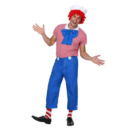 Plus Size Raggedy Andy Costume (Raggedy Andy Wig)