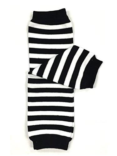 ALLYDREW Stripes, Polka Dots & Chevron Baby Leg Warmer & Toddler Leg Warmer for Boys & Girls, Red & White Stripes