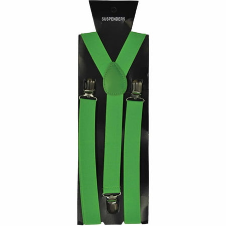 Neon Green Suspenders Adult Halloween Accessory (Green Halloween Punch Jello)