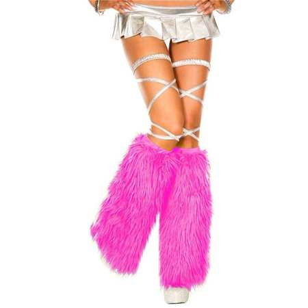 Music Legs 5535-NEONPINK Faux Fur Leg Warmers, Neon Pink](Neon Yellow Leg Warmers)
