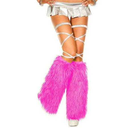 Music Legs 5535-NEONPINK Faux Fur Leg Warmers, Neon Pink](Leg Warmers 80s)