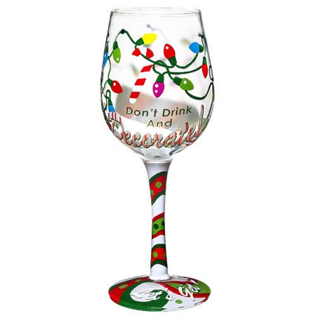 Don T Drink Decorate Hand Decorated Wine Glass In Paint Pail Packaging
