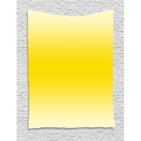Ombre Tapestry, Sun kissed Summer Hot Beach Inspired Ombre Design Digital Printed Room Decorations, Wall Hanging for Bedroom Living Room Dorm Decor, 40W X 60L Inches, Yellow, by Ambesonne