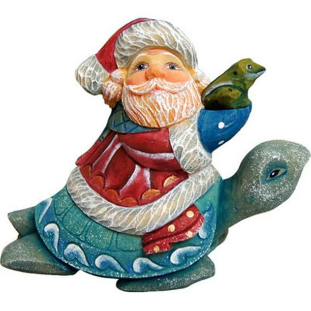 G Debrekht Santa on Pony Figurine Ornament