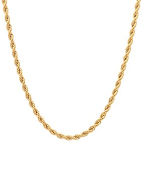 Men's Stainless Steel Gold-Tone Rope Chain, 24""