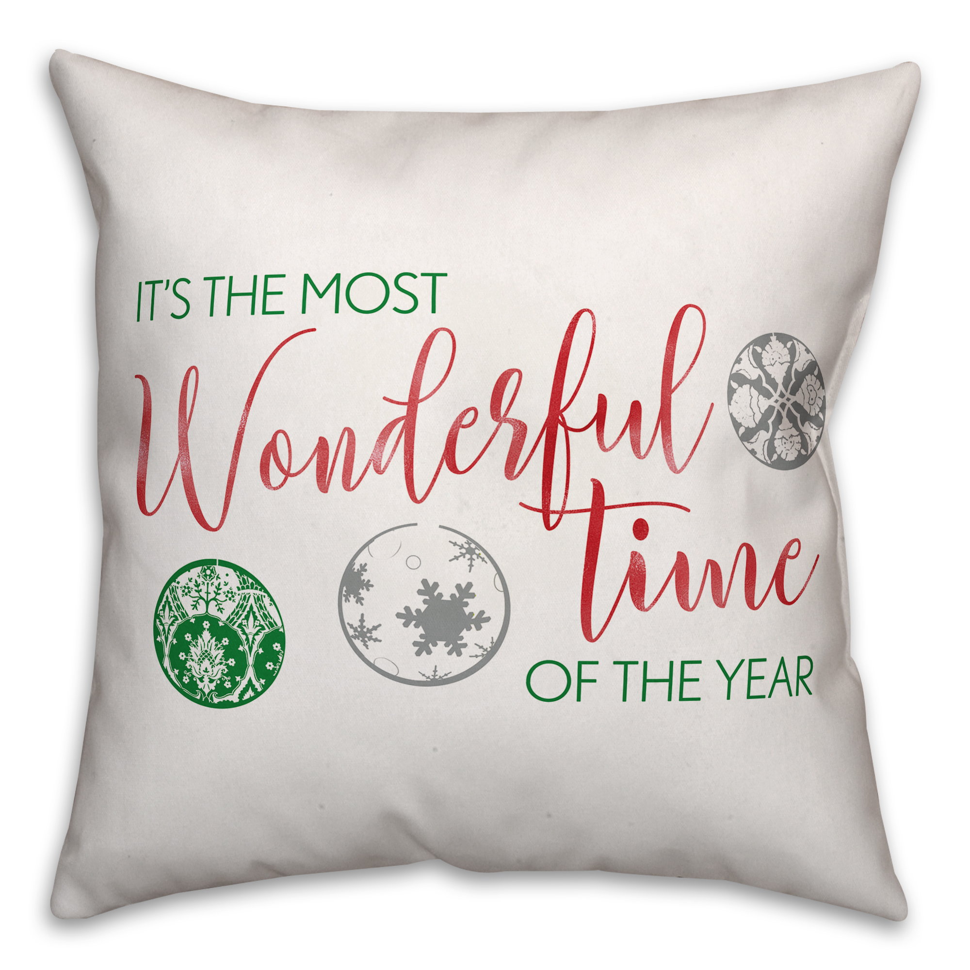 It's the Most Wonderful Time of the Year 20x20 Spun Poly Pillow