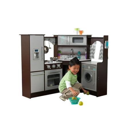 KidKraft Ultimate Corner Play Kitchen with Lights & Sounds -