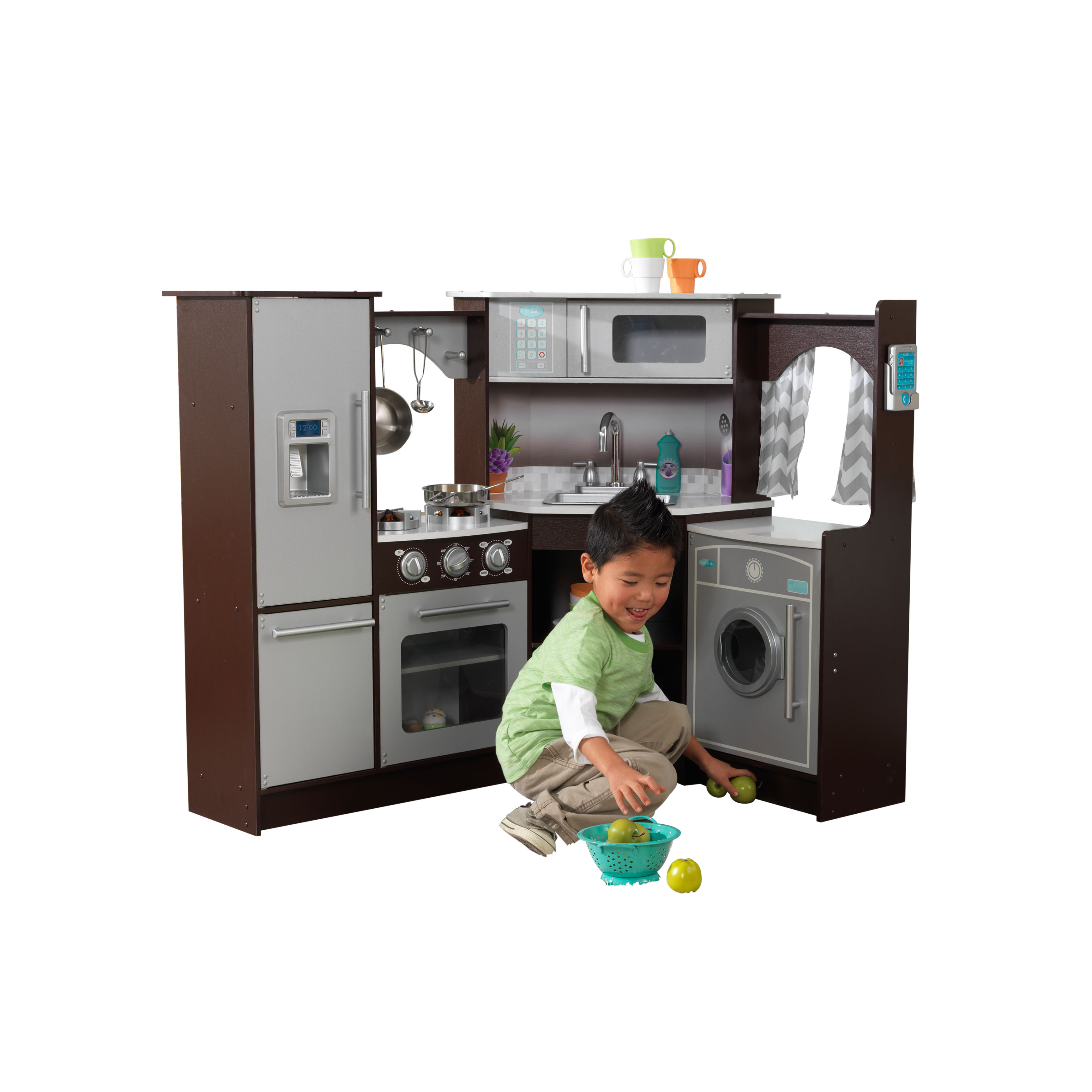 KidKraft Ultimate Corner Play Kitchen with Lights & Sounds - Espresso
