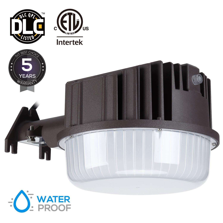 LEONLITE 80W Dusk to Dawn LED Outdoor Barn Light, LED Security Light for Yards, Barns, Parking Lots, Garages, 5000K Daylight