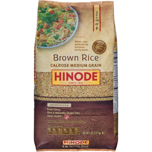 Hinode Brown Calrose Rice, 5 lbs