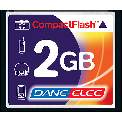 dane-elec 2 gb compactflash memory card da-cf-2048-r