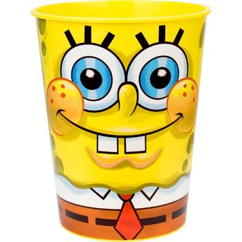 SpongeBob Plastic Party Cup (each) - Party Supplies](Party Supply Wholesalers)