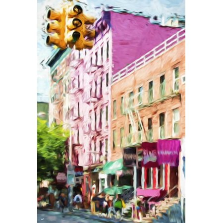 NYC Urban Scene III - In the Style of Oil Painting Print Wall Art By Philippe Hugonnard