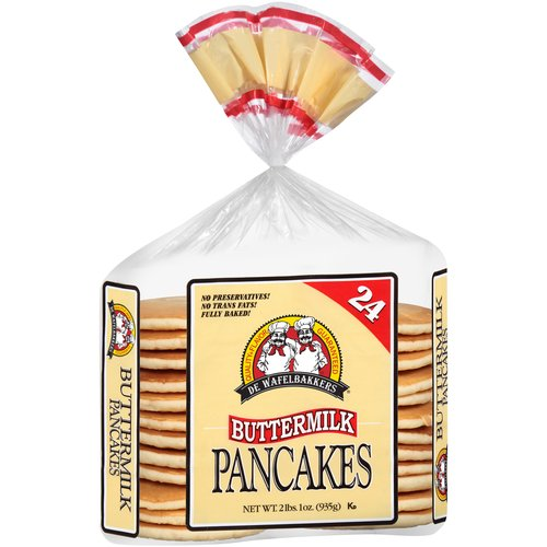 De Wafelbakkers Buttermilk Pancakes, 24 count, 33 oz