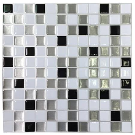 - Art3d Kitchen Backsplashes Stiker Peel and Stick Vinyl Wall Covering, 12