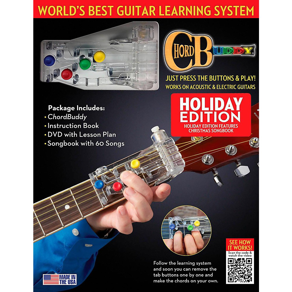ChordBuddy Guitar Learning System, Holiday Edition