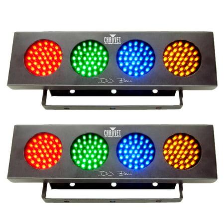 Chauvet DJ Bank RGBA LED Sound Active Color Party Wash Effect Light (2 Pack)