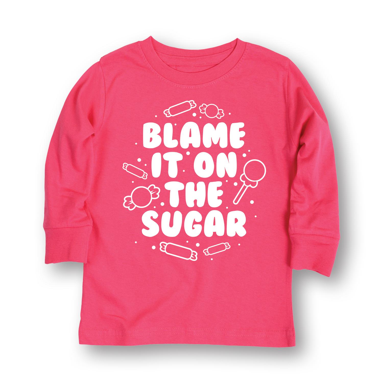 Blame It On The Sugar-TODDLER LONG SLEEVE TEE