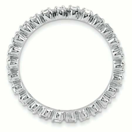 Sterling Silver Stackable Expressions White Topaz Ring Size 5 - image 1 de 3