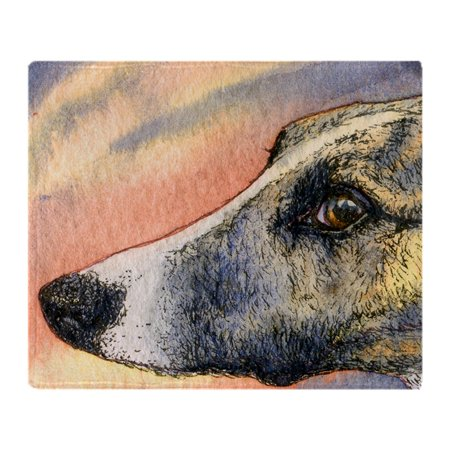 - CafePress - Brindle Whippet Greyhound Dog - Soft Fleece Throw Blanket, 50