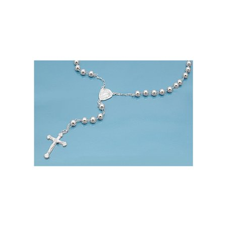 Rosary 6mm Glass (925 Sterling Silver 6MM Rosary)