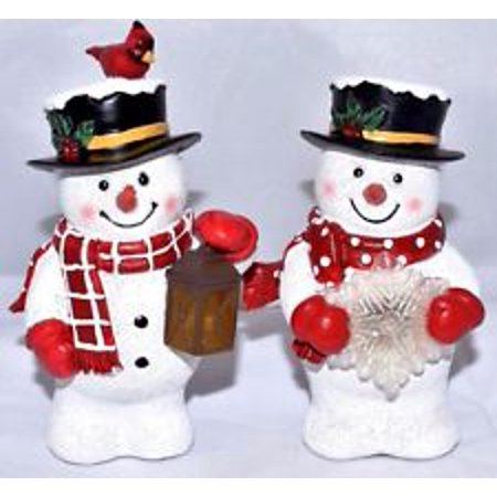 Snowman Shelf (Illuminated Snowman Figurines Shelf Sitters, 3
