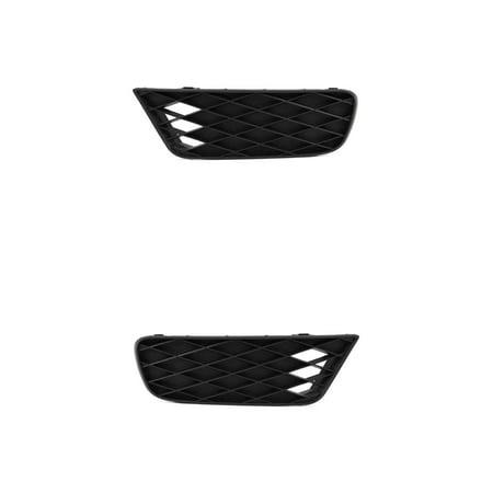 Fog Light Cover - Cooling Direct Fit/For 8148102480, 8148202470 09-11 Honda Civic-Sedan/Hybrid Front Bumper Outer Grille Both Pair, Left Driver Right Passenger Hand Matte-Black ()
