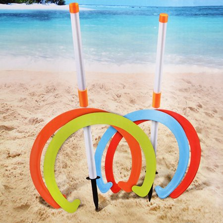 Kids Horseshoe Play Set Toss Games Sports Toys Classic Sports Playground Equipment - image 4 de 4