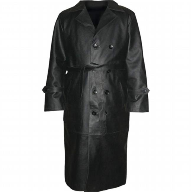 BNFUSA GFTRSLBXL Rocky Mountain Hides Solid Buffalo Leather Trench Coat - XL